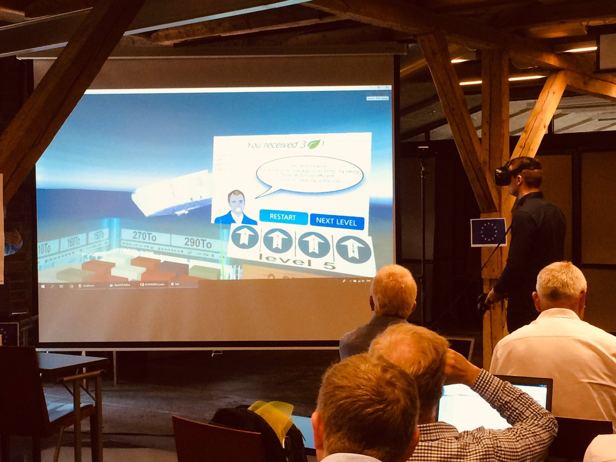 #Interreg #transnational partnerships typically explore new terrain and test new approaches, like @ECOPRODIGI_BSR VR & other digital solutions that help reduce the ecological footprint of transport vessels on the #BalticSea. #MadeWithInterreg