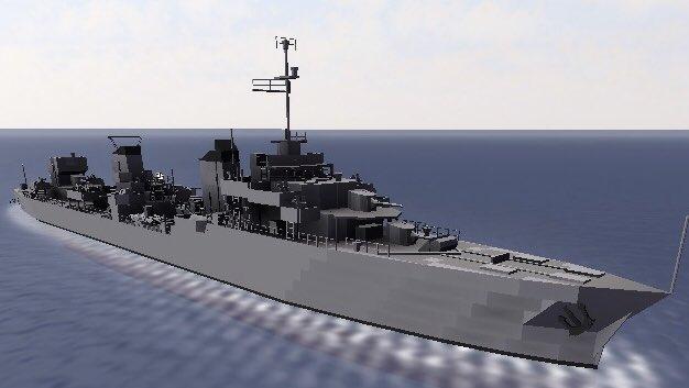 """晃太 בטוויטר: """"FNFL Le Terrible ル・ファンタスク級大型駆逐艦の一隻 ..."""