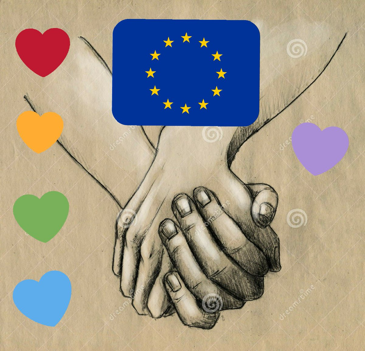 You, you may say I'm a dreamer But I'm not the only one  I hope someday you will join us and the world will be as one   #HandInHand4EU  #Europawahl2019   #wirsindmehr <br>http://pic.twitter.com/1waQinAQEu