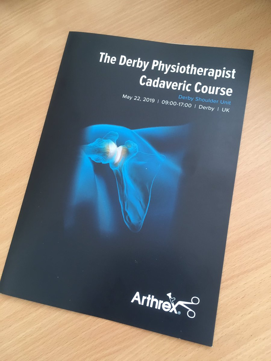 The first Derby Cadaveric Physiotherapy Course is underway.  Supported by @ArthrexUK