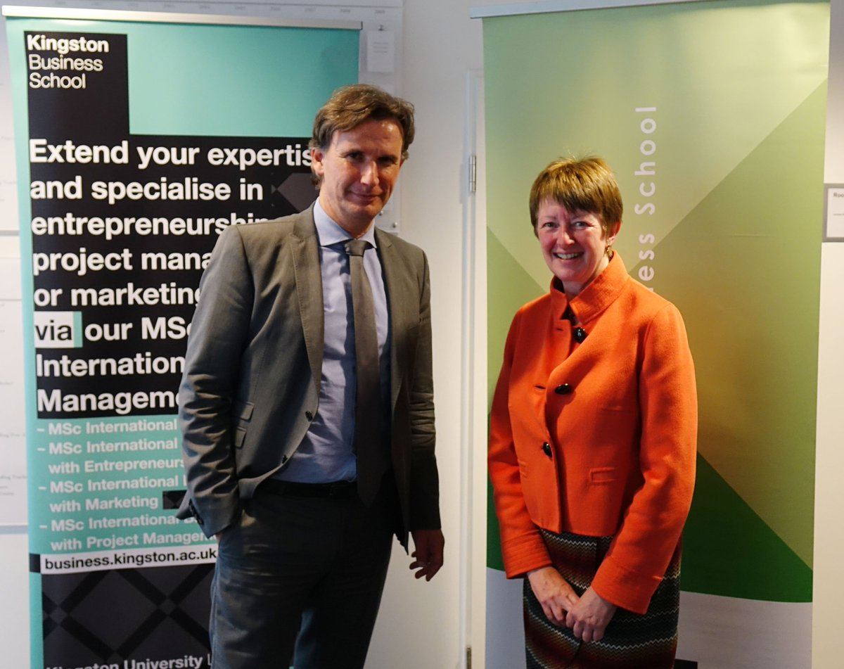 Dean of @KingstonBSS Professor Jill Schofield joined students and staff in #Germany to celebrate the launch of a new partnership with GISMA @Business_School in #Hanover as the first students enrol on their #KingstonUni accredited #postgraduate #business programmes 👏🇬🇧🇩🇪 https://t.co/SmknrDwYBm
