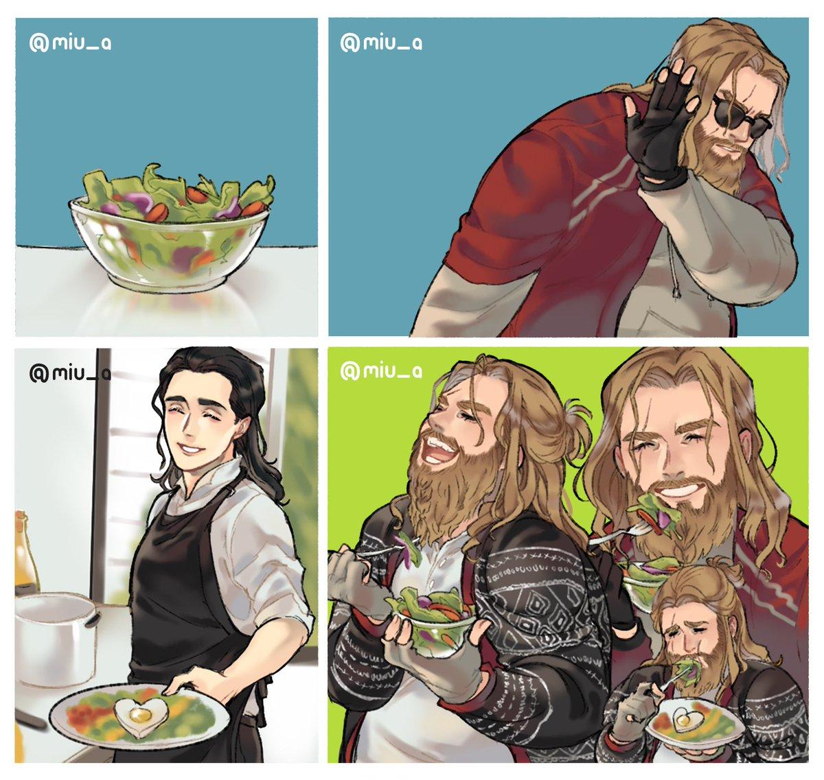 How to make thor eats his salad   #AvengersEndgame  <br>http://pic.twitter.com/TfhaW3QHC3