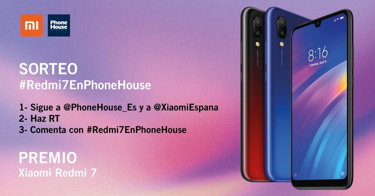 ¡Nuevo #SORTEO! 💥  Para participar y ganar un #XiaomiRedmi7 tienes que:  1⃣ Seguir a @PhoneHouse_Es y @XiaomiEspana 2⃣ RT 3⃣ Comentar con #Redmi7EnPhoneHouse por qué quieres ganar este smartphone (a más tweets más posibilidades de ganar)  ¡SUERTE!