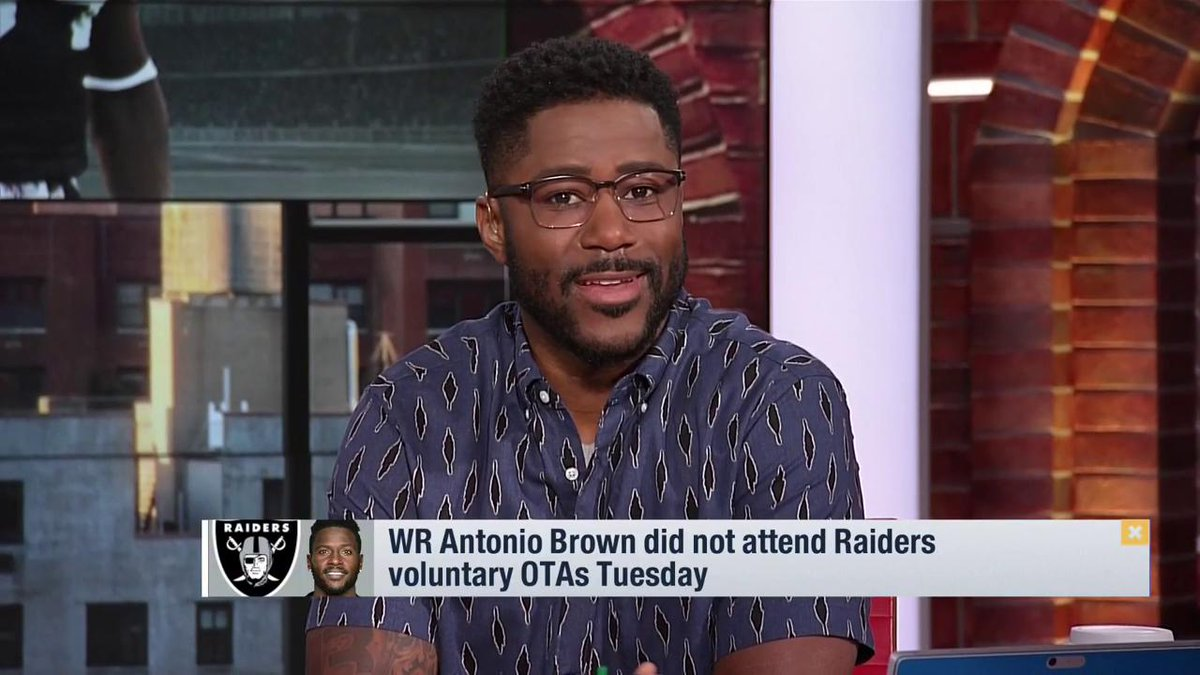 Just because its a new coach, new team, new money -- the player doesnt have to have a new approach to what makes him great. @nateburleson reacts to @AB84 not being at @Raiders voluntary OTAs.