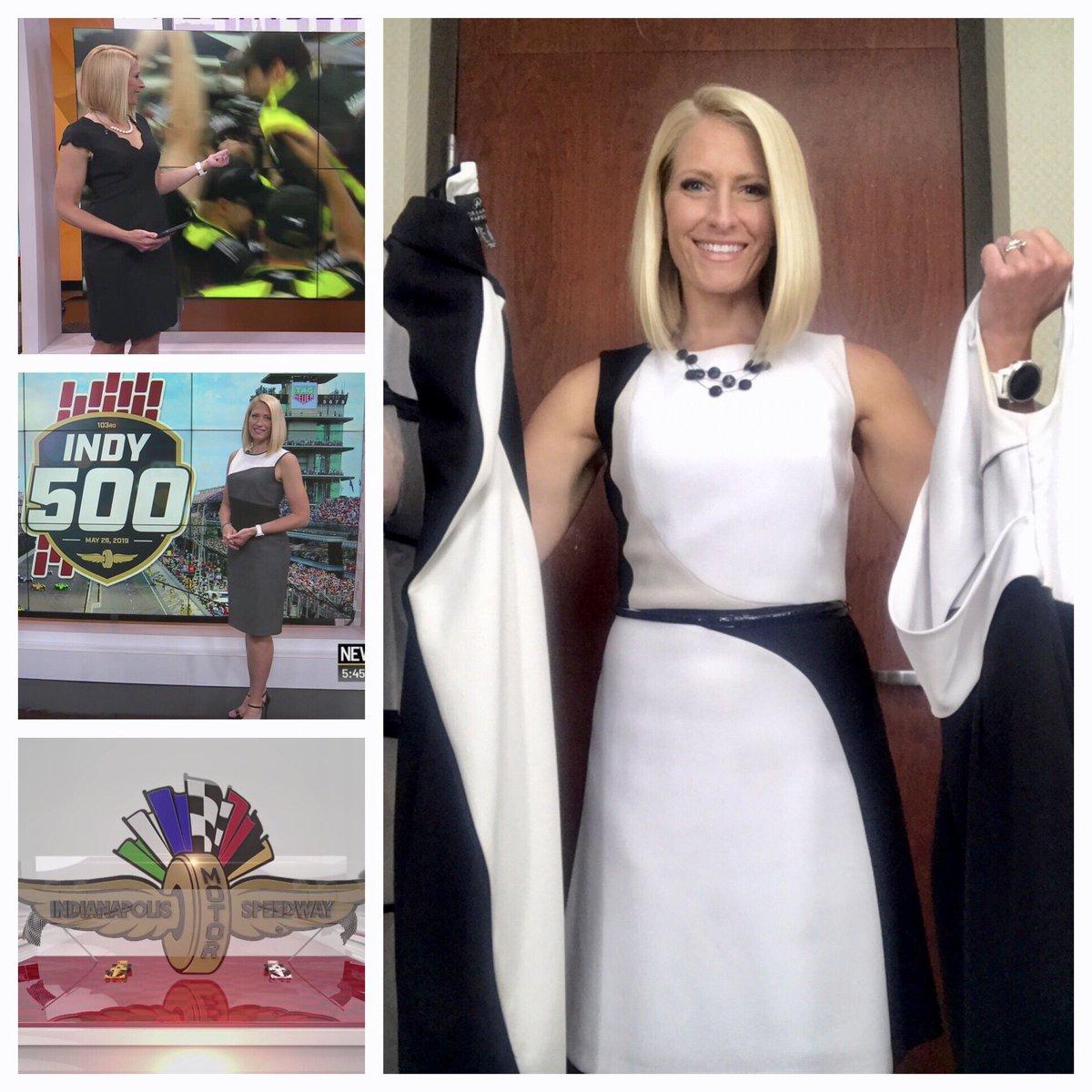 I don't always call attention to what I wear to work but when I do, there's a theme    Two more days of black and white this week leading up to #DaybreakRaceday @IMS! Always a fun morning on @WISH_TV #Daybreak8 <br>http://pic.twitter.com/AKIABjsp6k