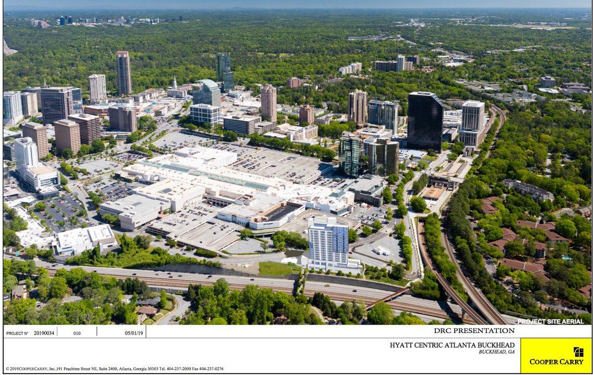 Hotel proposed for Lenox Square Mall (Atlanta: suite, train