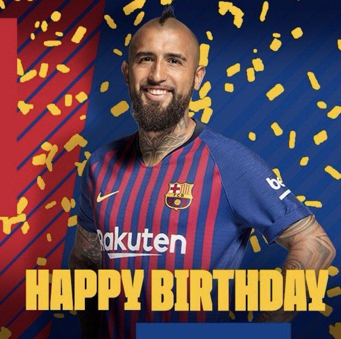 Happy birthday to Arturo Vidal, who turns 32 today.