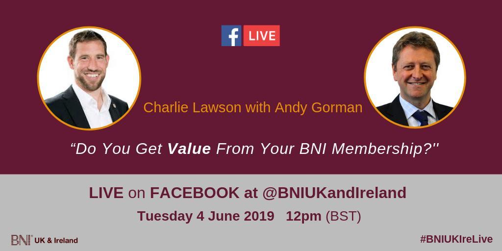 BNI UK and Ireland's photo on Facebook Live