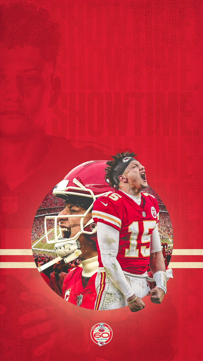 Showtime.    @PatrickMahomes | #WallpaperWednesday <br>http://pic.twitter.com/SC2O55zrBB