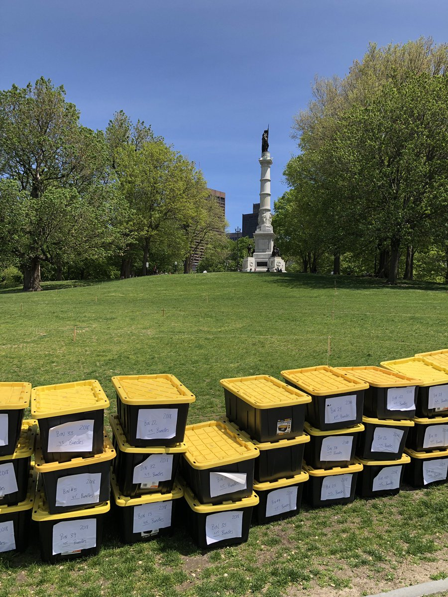 Getting ready for the Memorial Day Flag Garden. – at Boston Common