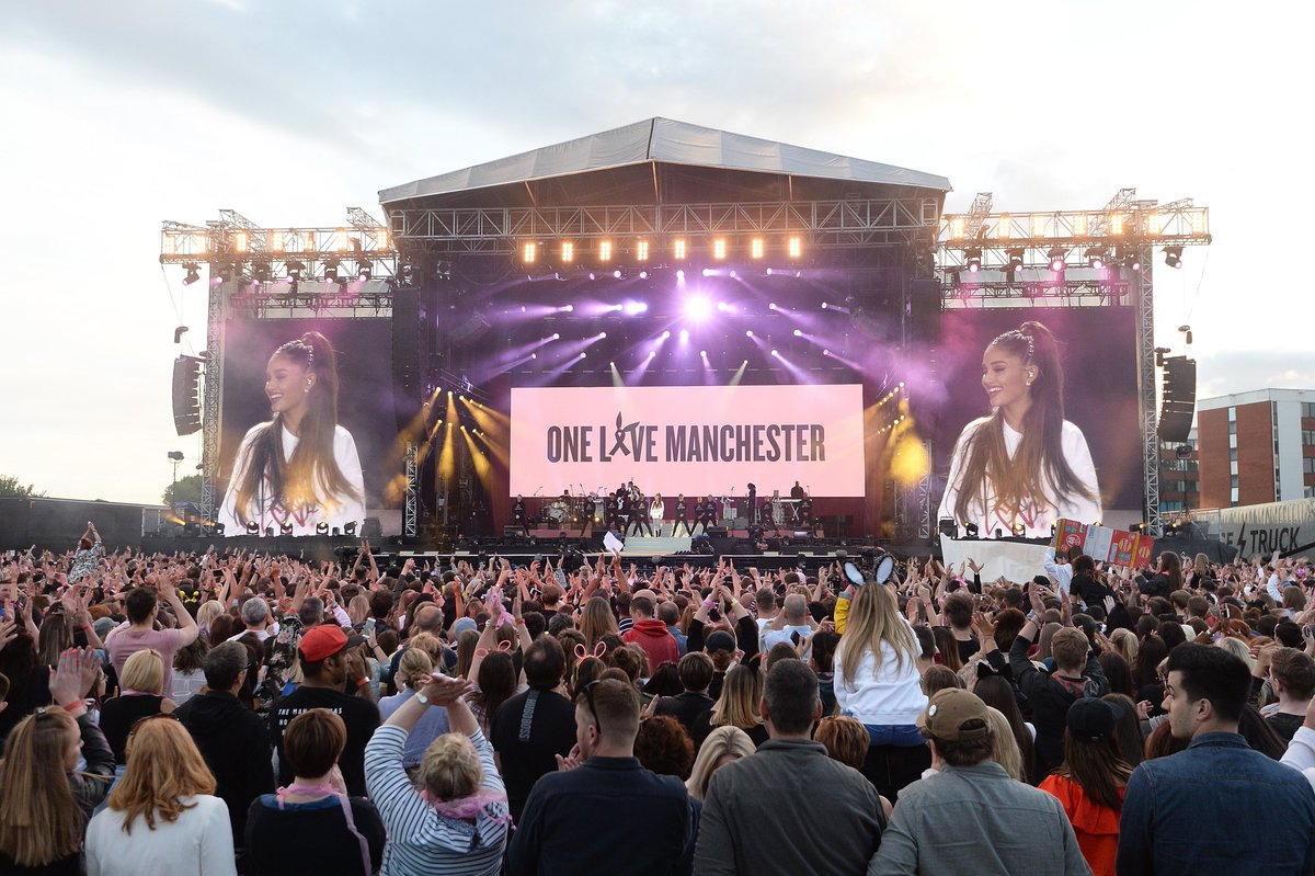 2 years ago, 22 people were killed in a horrific attack on an Ariana Grande concert in Manchester. Our prayers are forever with the families and friends of everyone affected by that night. #OneLoveManchester 🐝