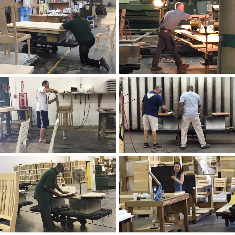 Its a beautiful day here in Tennessee. We are working hard to bring our customers what they want. We love our customers and we pride ourselves on our craftsmanship. #cresent #solidwood #tennessee #classicfurniture #craftsmanship