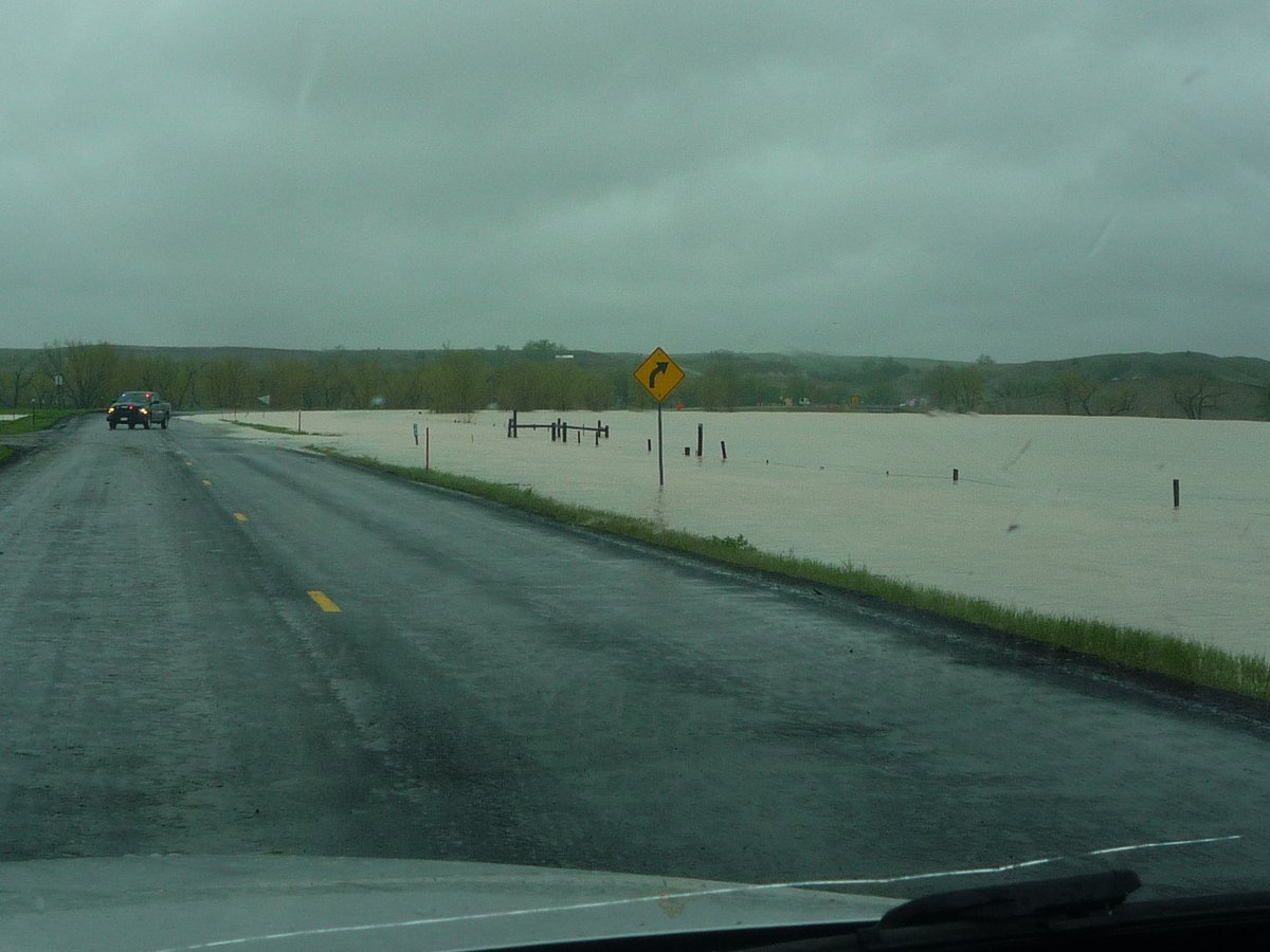 Flooding In Now Starting To Become An Issue Sd 44 East Of Interior Had Been Close Due Water Crossing Over The Highway