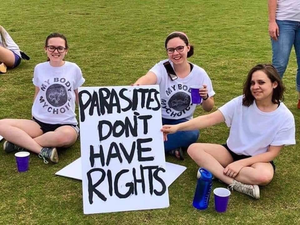"""By """"parasites"""" they mean unborn babies in the womb.  This is truly despicable..."""