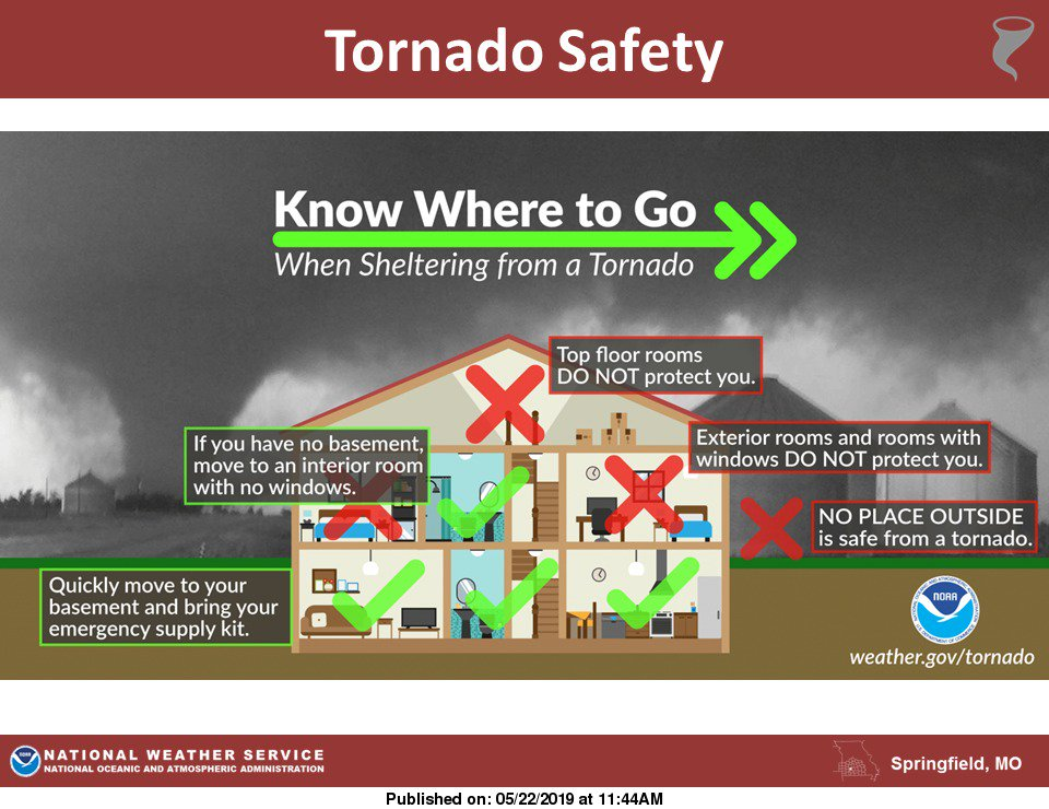 RT @NWSSpringfield: Know where to go for shelter when a tornado warning is issued for your area. https://t.co/70f00aj8qd
