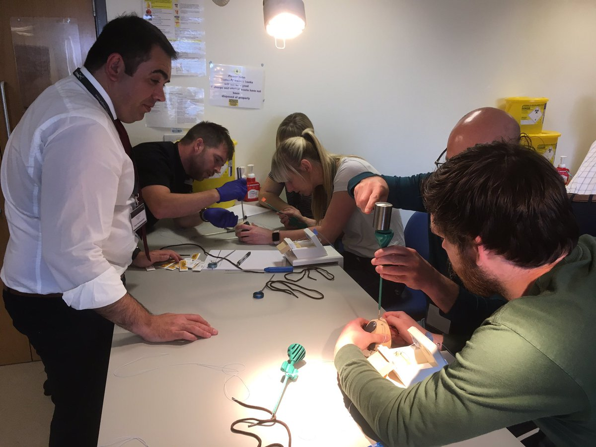 There was also the opportunity for the delegates to practice cuff repairs and Bankart repairs on training simulators. #DerbyCadavericCourse. Big thanks to @ArthrexUK