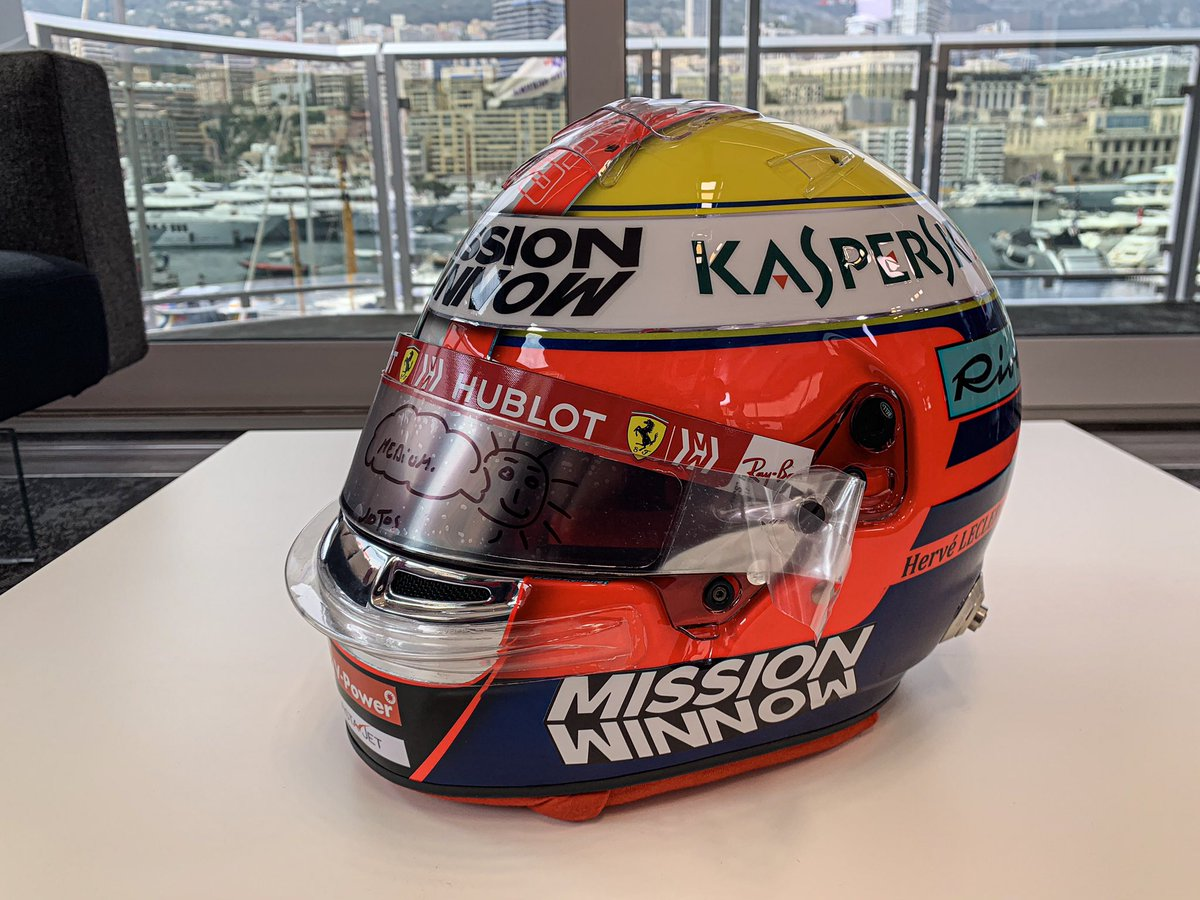 Half of this helmet is Jules' one and the other half is my father's one. Without these 2 I would not be here. Let's give it all for this special week-end. 🇮🇩