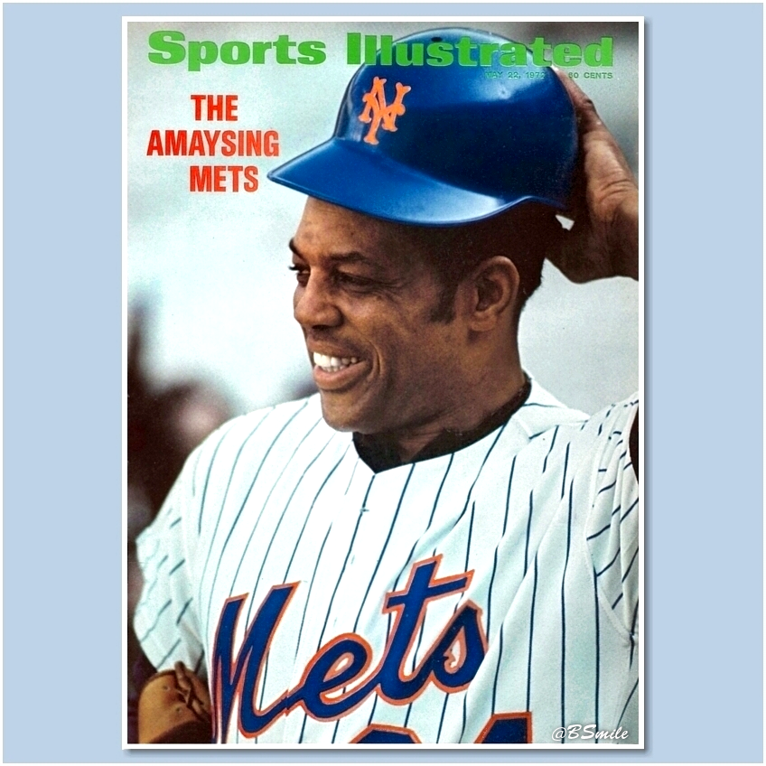 """""""The Amaysing Mets"""" ~ Willie Mays (Sports Illustrated - May 22, 1972) @UniWatch @PhilHecken #MLB #LGM"""