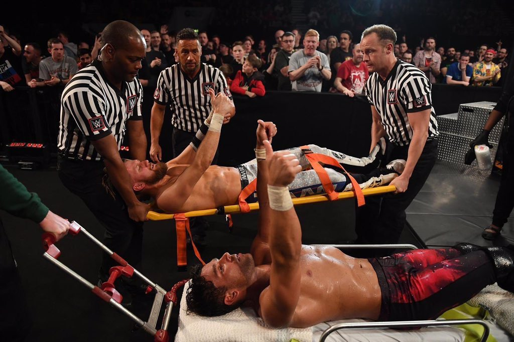 No hard feelings after Round 1.Round 2 tonight.Absolute sportsmanship.SPRNVA 11 solid beyond belief.@WWENetwork @NXTUK 3pm  / 8pm