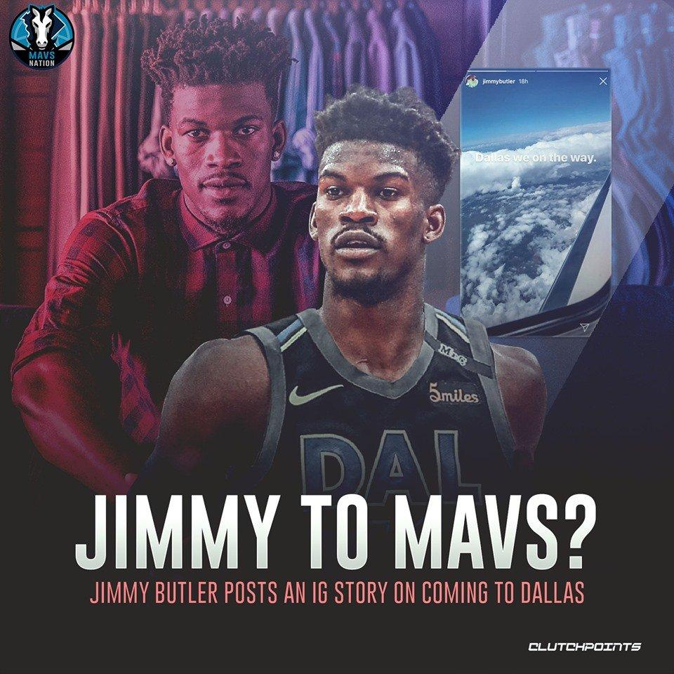 How does a Big 3 of Luka Doncic, Kristaps Porzingis, and Jimmy Butler sound?   #Mavs #MFFL  #NBA  #NBATwitter <br>http://pic.twitter.com/YB9Ix5Xwwb