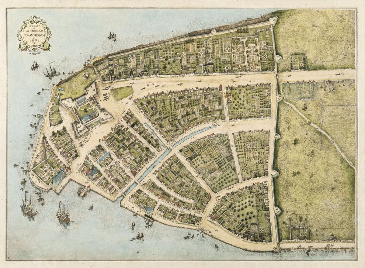 RT @onlmaps: New Amsterdam  c. 1660  #map #maps https://t.co/QNQ6xuLgFh