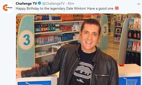 Challenge TV wishes Dale Winton a happy birthday more than a year after he died