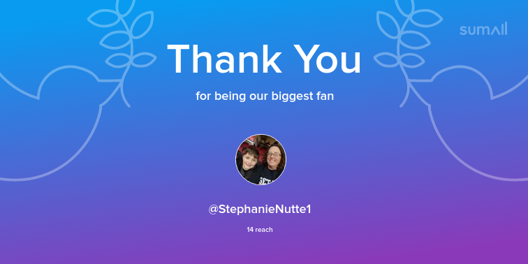 Our biggest fans this week: StephanieNutte1. Thank you! via sumall.com/thankyou?utm_s…