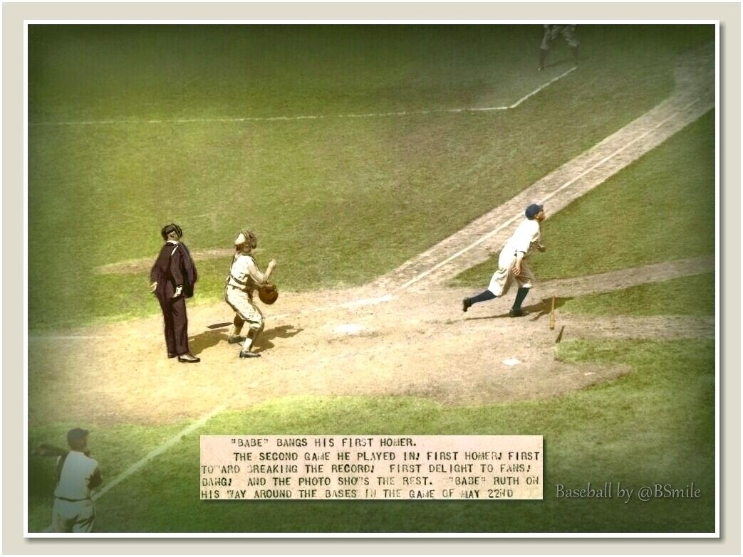 """Today In 1922: """"Babe Bangs His First Homer"""" ~ New York #Yankees star Babe Ruth hits his first HR of the season vs. the St. Louis Browns (Polo Grounds, NYC) #MLB #History"""