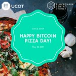 Image for the Tweet beginning: Happy #bitcoin pizza day! 9
