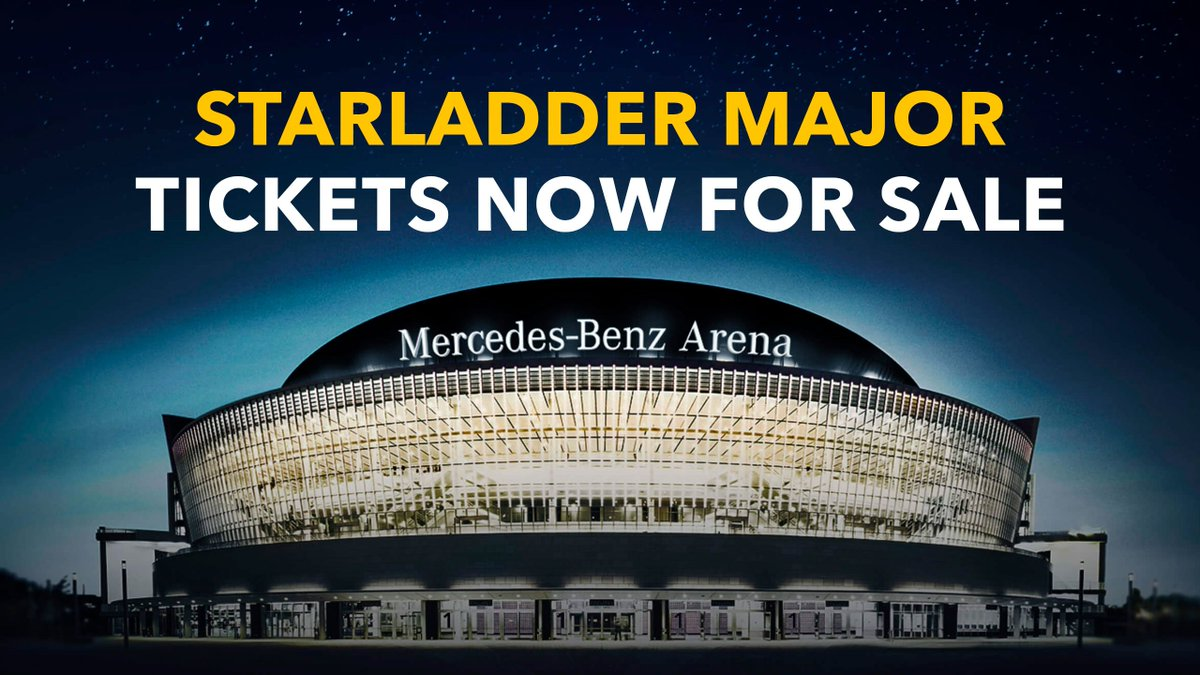 🚨 Berlin Major Tickets Alert 🚨  Do you hear it? The major is coming!  Tickets are now available for purchase for all playoffs days (September 5-8) and come in three categories: general, premium, and premium with goodies!   🎫Get your ticket NOW 👇 http://csgomajor.starladder.com/