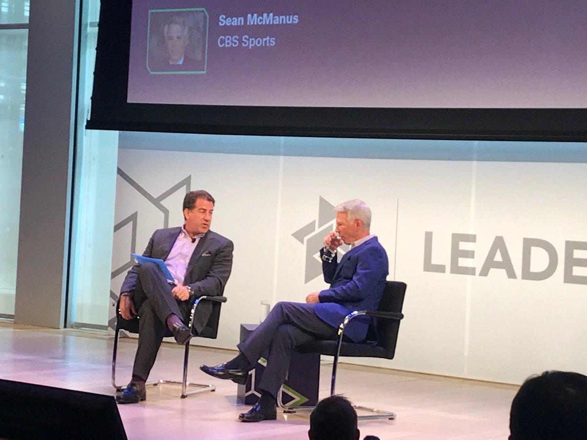 Listening to CBS Sports chairman Sean McManus at #leadersweek <br>http://pic.twitter.com/nDiVaHAPWd
