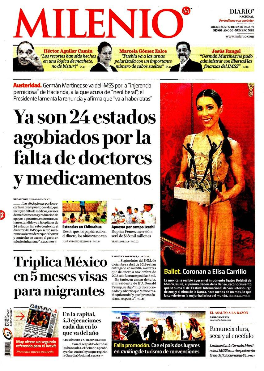 #Las8Columnas #Milenio: Ya son 24 estados agobiados por la falta de doctores y medicamentos