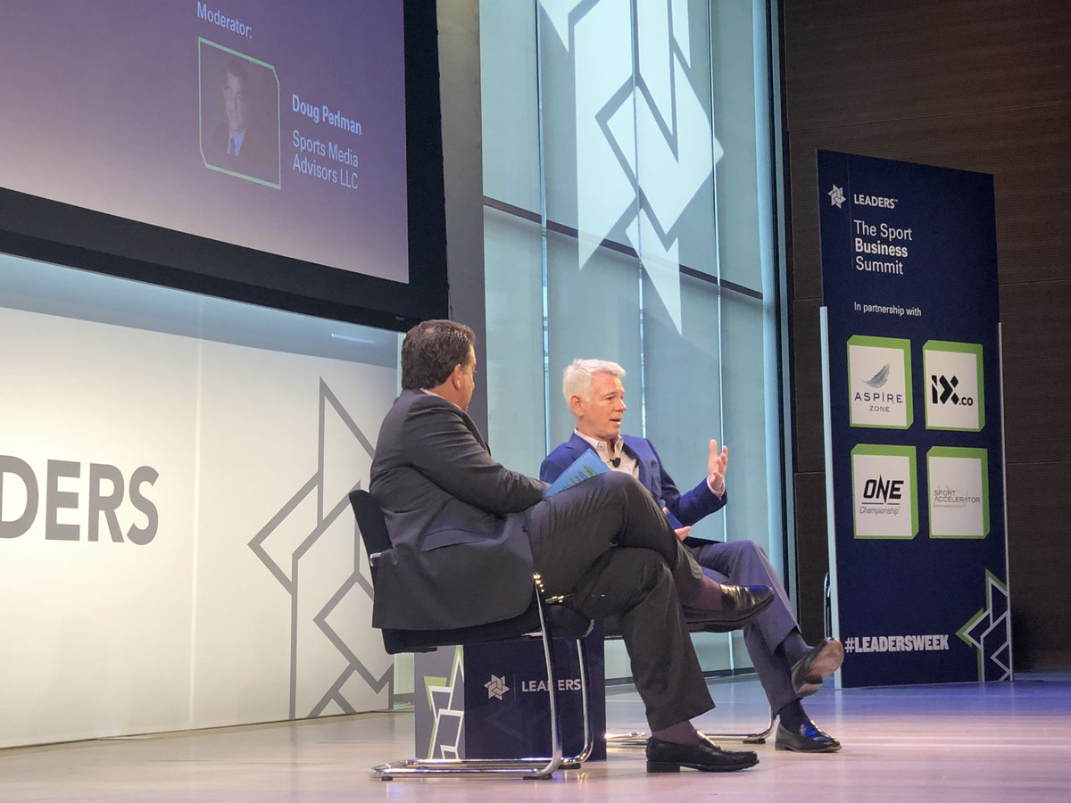 """""""We believe in aggregating big audiences and sports is the best way to do that."""" ~ CBS Sports Chairman Sean McManus #LeadersWeek <br>http://pic.twitter.com/7QjruMK2lO &ndash; à New York Times Center"""