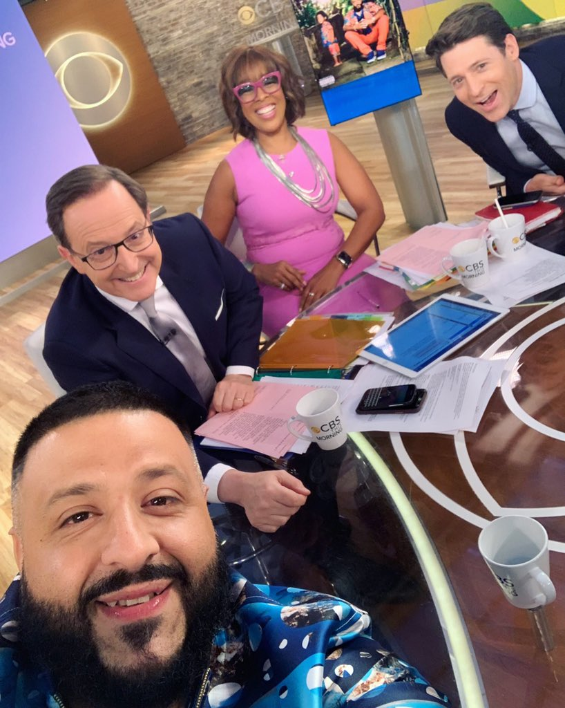 A @DJKhaled selfie! So great to have him in #Studio57 this morning @CBSThisMorning
