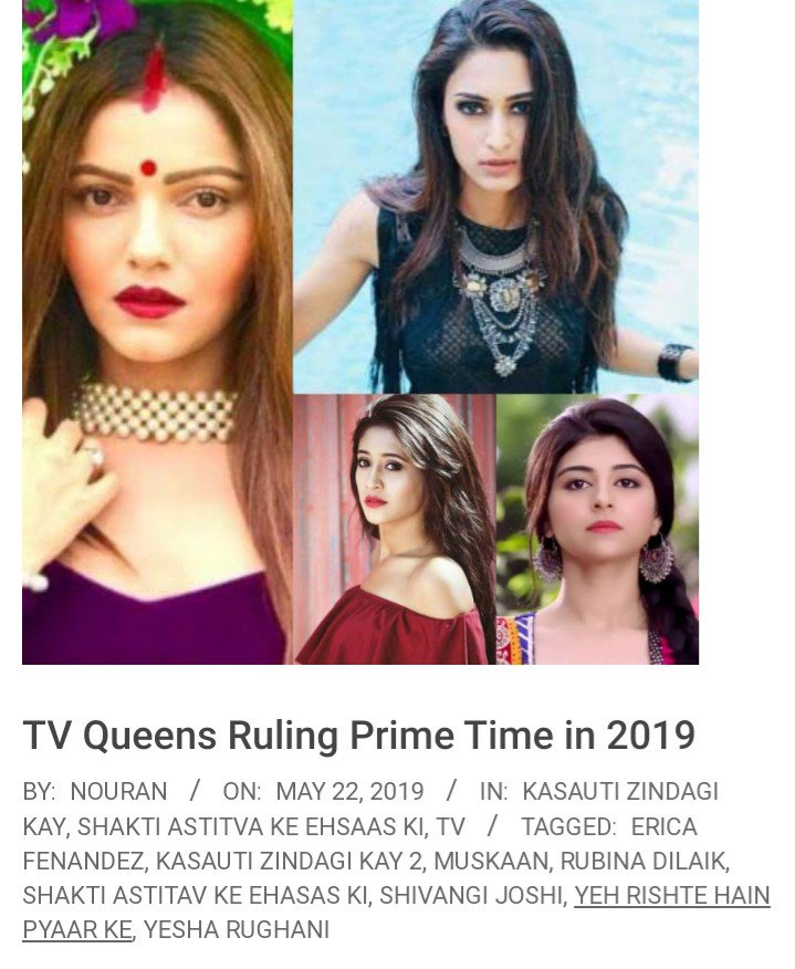 This article made my day.. @JustShowbiz thanks a lot.  According to critics n shows Producer herself, Erica matched up with the character #PrernaSharmaBasu in no time  Bright future is waiting for her #EricaFernandes #KasautiiZindagiiKay<br>http://pic.twitter.com/08of5zJmW3