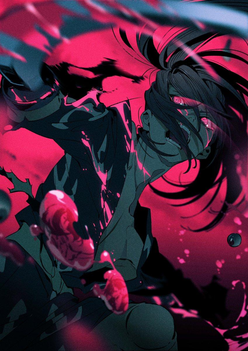 TVアニメ「どろろ」のトリビュートイラストを描かせていただきました。よろしくお願いします〜。守子唄の巻の百鬼丸のイメージで描きました。 … #どろろ