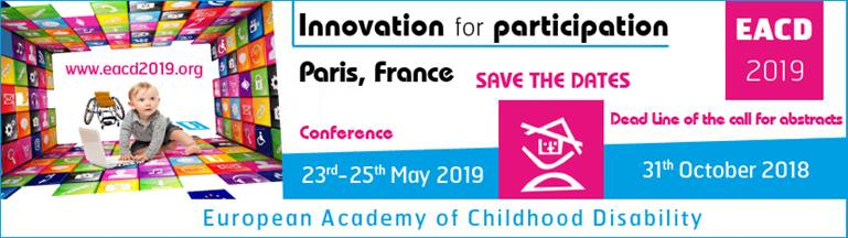 See you tomorrow at the 31st edition of the European academy of childhood disability conference !  #Inclusion #eacd2019