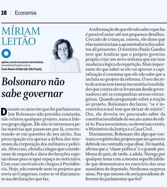 Se você é brasileiro e quer ser um cidadão participativo, você TEM que ler essa publicação da Míriam Leitão.Desafio qualquer um a provar que ela está errada.