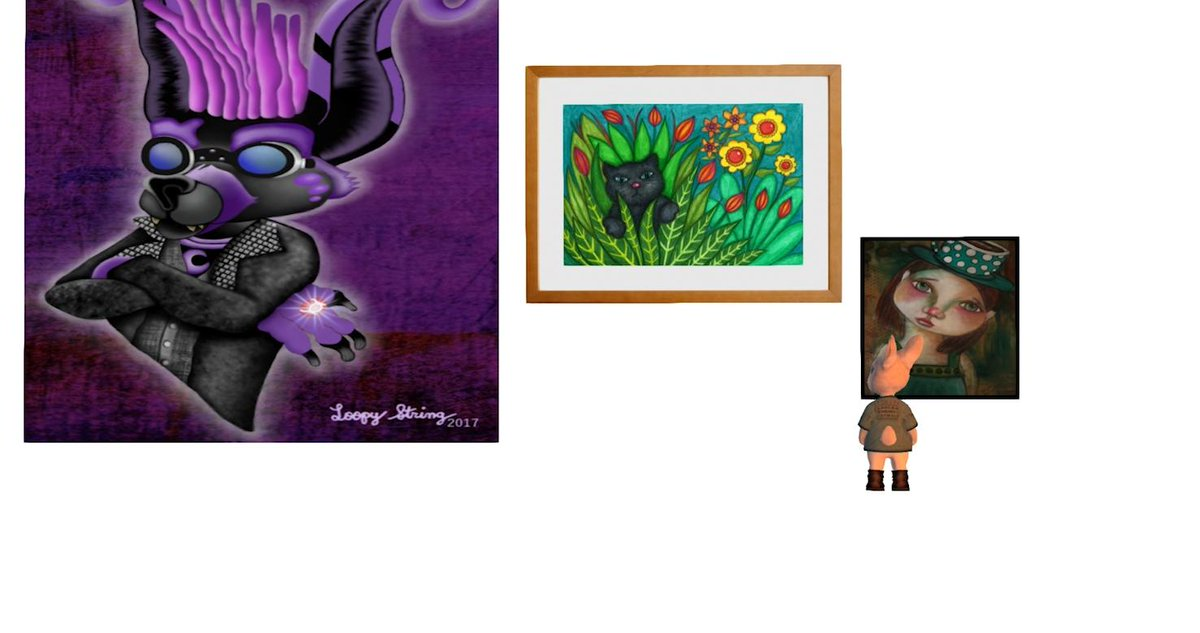 Avatar art at the Raglanshire Artwalk = it is in its 14th year .... story coming at 10am #secondlife https://t.co/pJCL5fQC0W