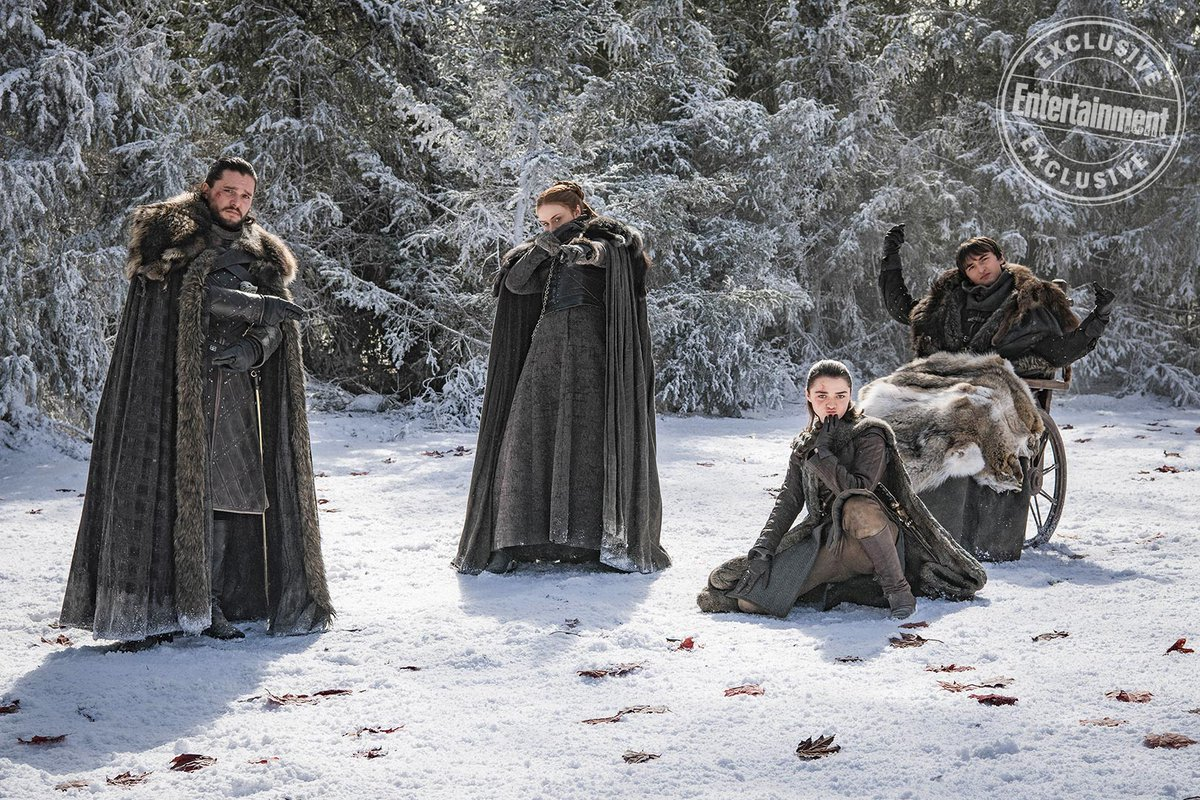 Stark Squad. Album dropping next winter. 🙌🏻  See more exclusive never-before-released #GameOfThrones photos: https://t.co/EWTI8pTnzf https://t.co/NfBwQl2LzG
