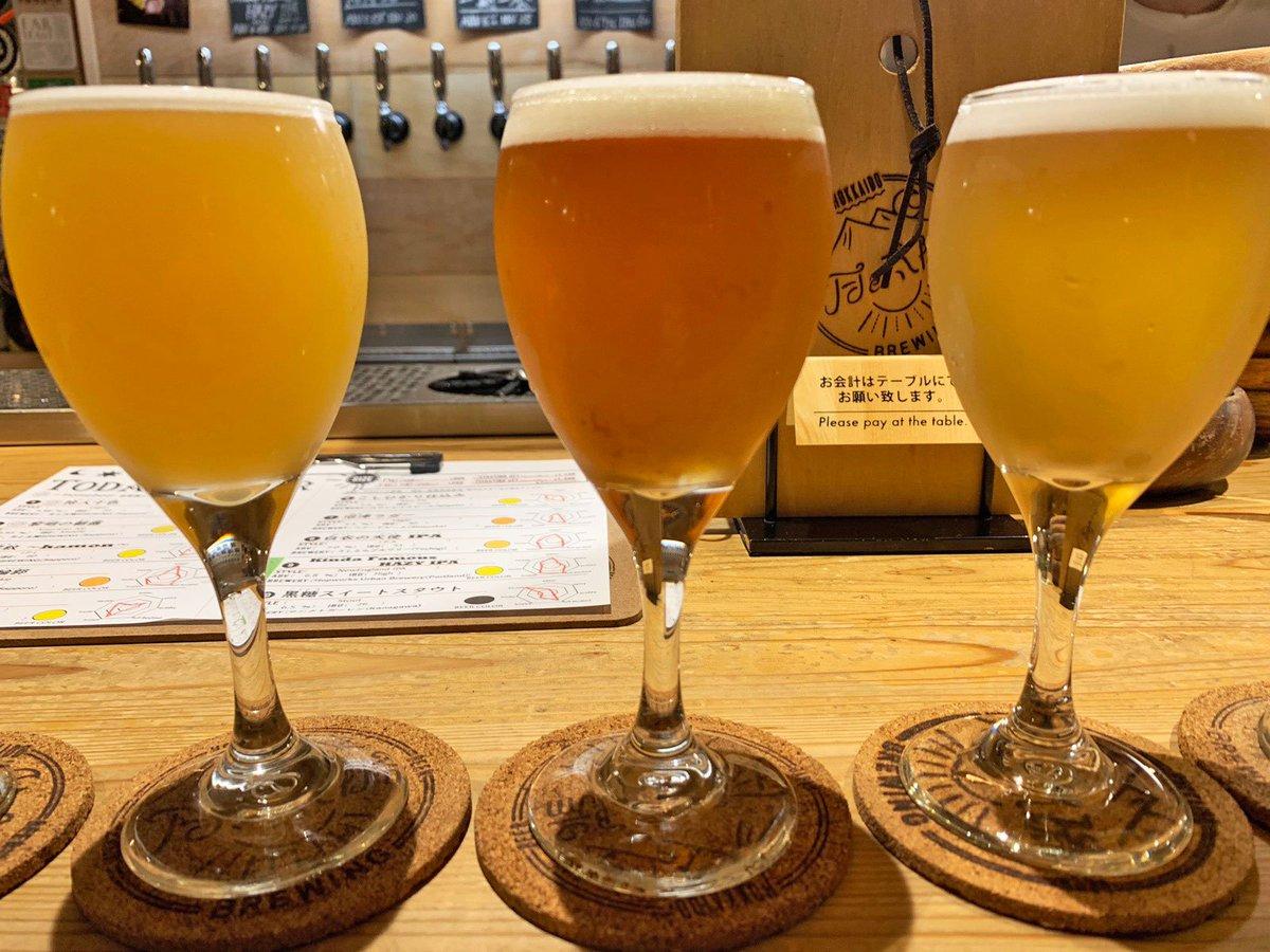 【月と太陽BREWING】@北海道:すすきの駅から徒歩6分併設の工房で醸造した自家製クラフトビールを飲めるお店日替わりで10種類のクラフトビールを提供しており、自家製クラフトビール以外に全国から仕入れたクラフトビールを楽しめます!クラフトビール飲み放題ができる珍しいお店でもあります!