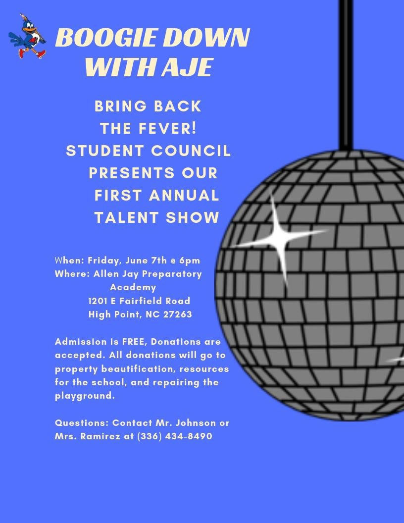 Come out and support our Jaybird Talent Show!!! #SOARwithUs #watchusSOAR  #SOARtoGreatness @GCSchoolsNC<br>http://pic.twitter.com/91L9sU0eKo
