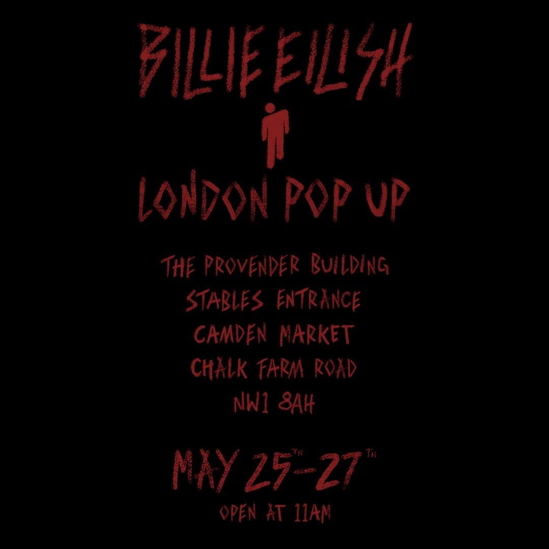 LONDON POP UP  MAY 25 - 27