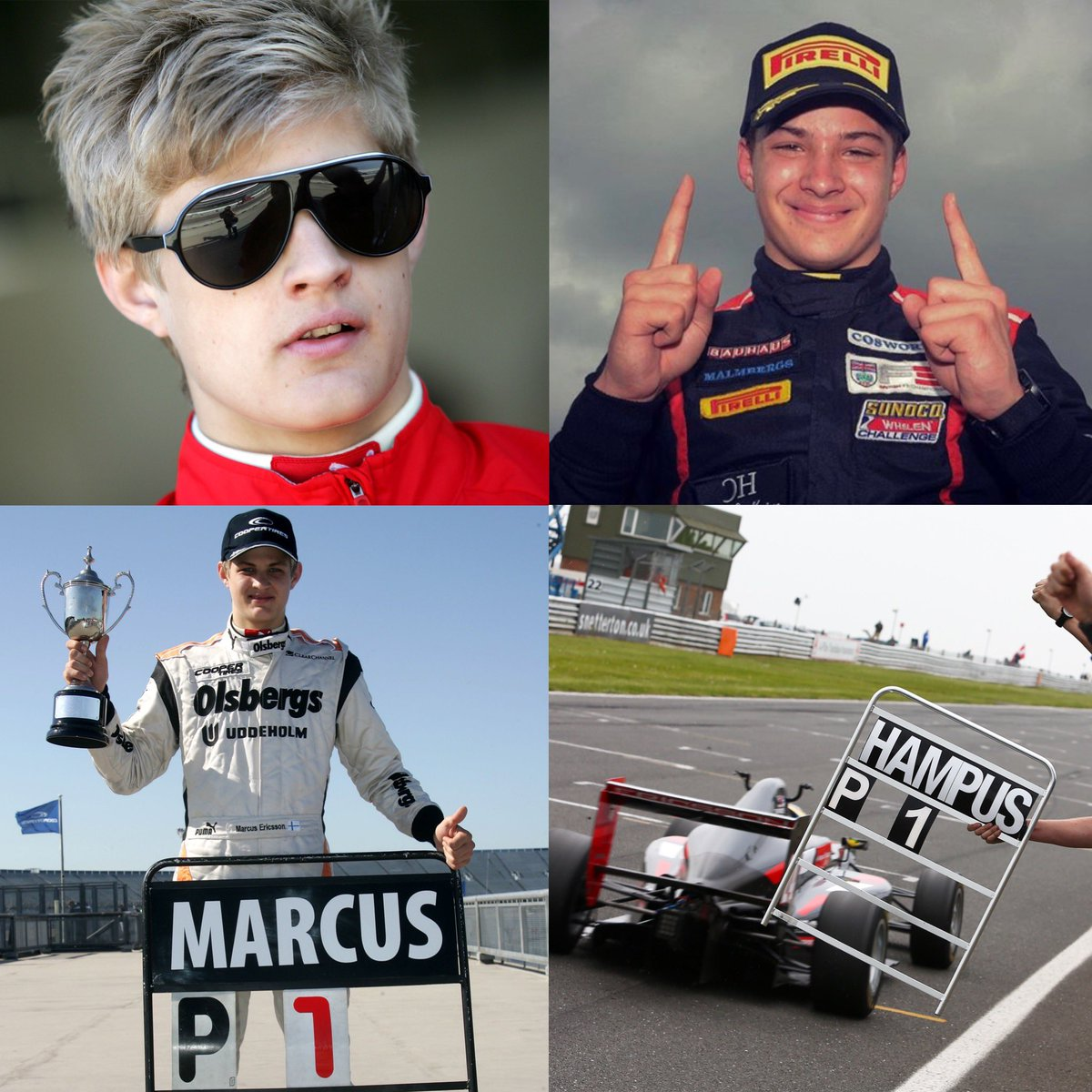 Haha awesome! Crazy to think it's 10 years ago 😅🙈. My first British F3 race win at Rockingham! Biggest question here is how do I get hold of them sunglasses again 😂😂