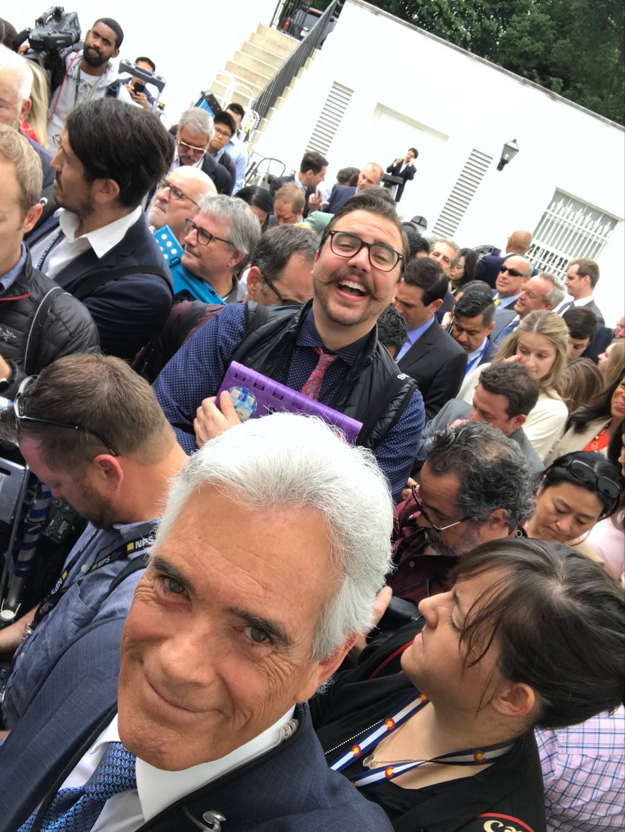 Hastily called press avail in the Rose Garden with @realDonaldTrump   Some photographers are clearly excited at the prospect....