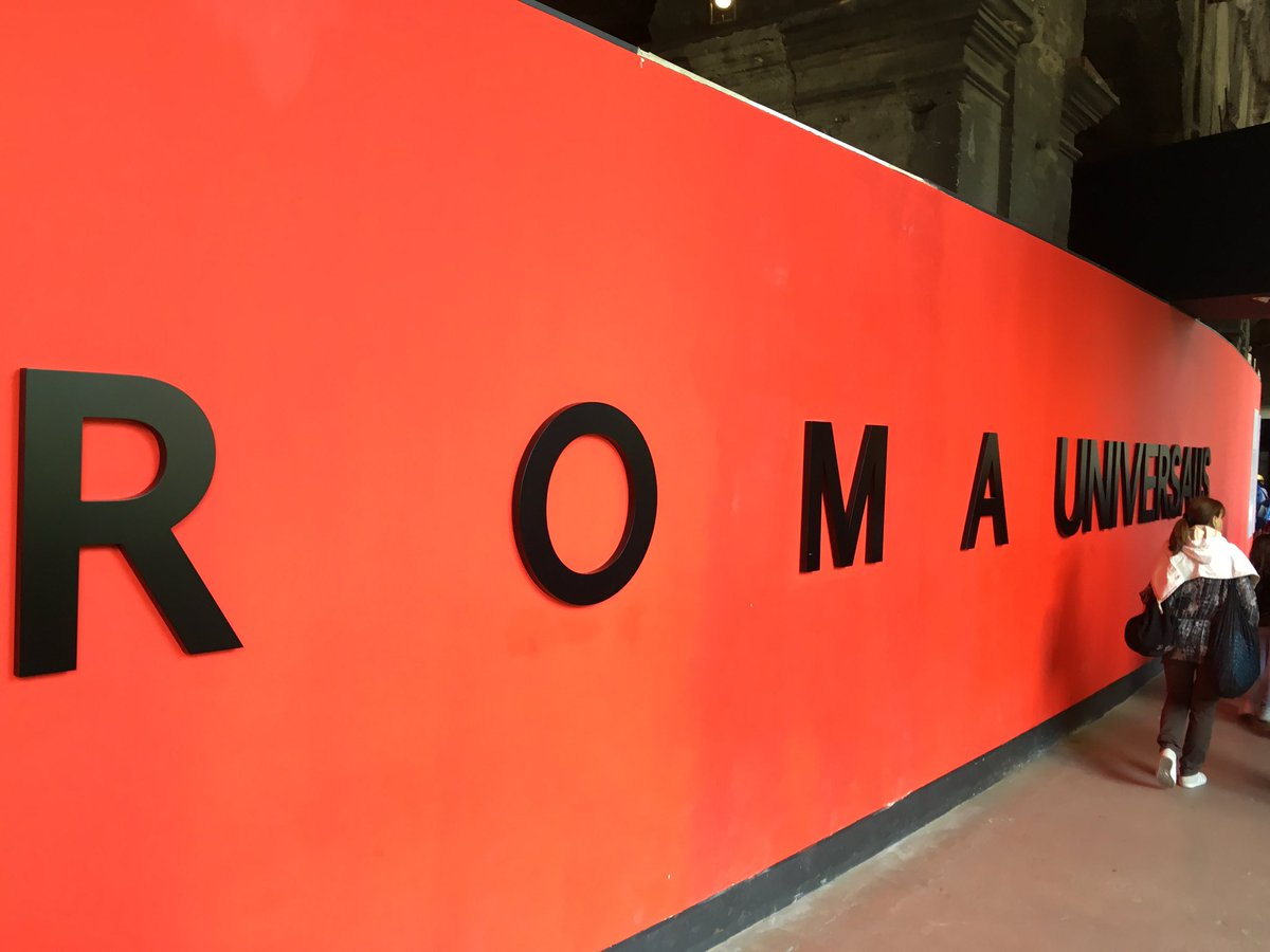 Really good to (at last) see the most interesting and beautiful #RomaUniversalis exhibition at the Colosseum today. Compliments and thanks to @alfonsrusso @ParcoColosseo and @ElectaEditore