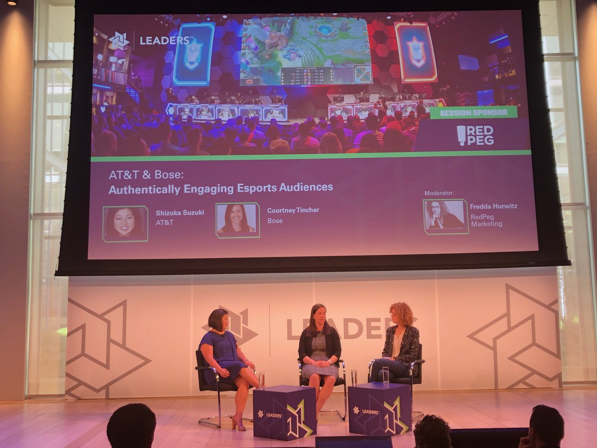&quot;We love the phrase &#39;test and learn.&#39; What do we want to learn, and what tests can we put in the marketplace? To that end, esports felt like a great audience to compliment our existing traditional sports sponsorships.&quot; — @CourtneyTincher from @Bose   #LeadersWeek @LeadersBiz<br>http://pic.twitter.com/OqBq14kmNU