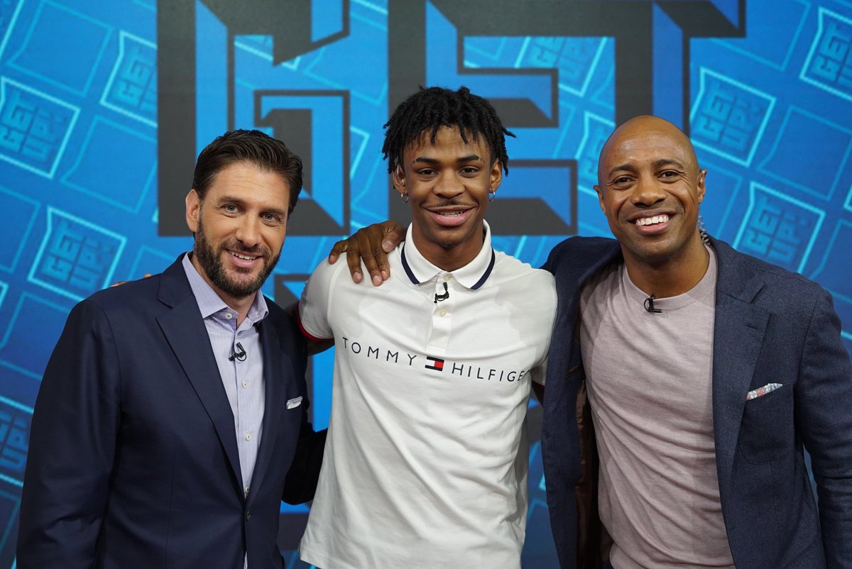 Something about these point guards that go number two in the draft. Ja Morant is a terrific young man and unreal talent. Looking forward to watching him at the next level. @GetUpESPN