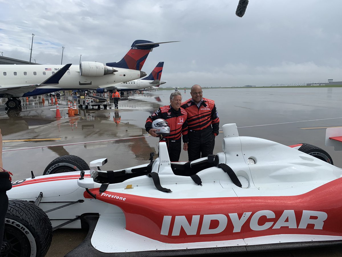 My next venture.... Now offering Mario's Uber Service in the 2-seater from the Indiana Airport to the Indianapolis Motor Speedway @IMS .   My first passenger @miketirico