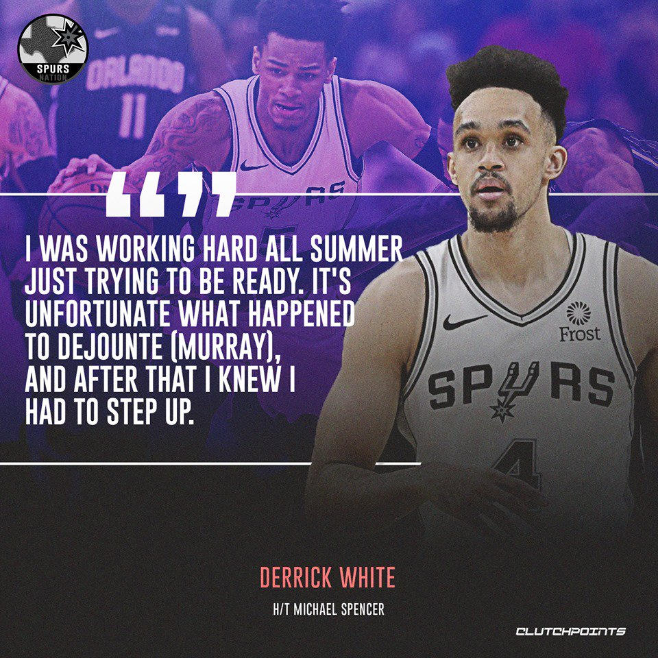 Derrick White more than proved his worth this season.   #GoSpursGo  #Spurs<br>http://pic.twitter.com/LN4eEQaMCK